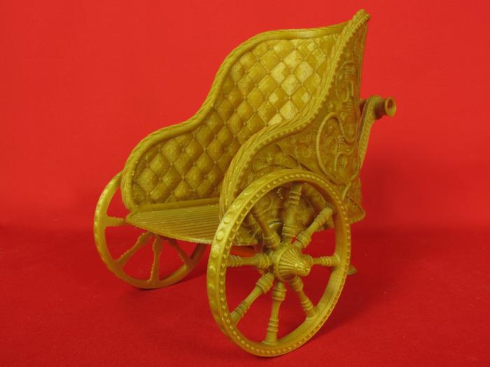3d printed barbie chariot_back