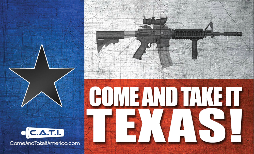 come and take it texas ghostrunn protest