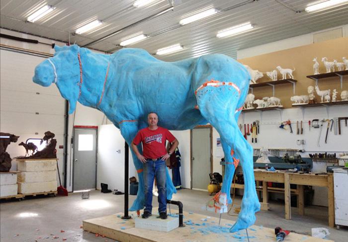 foam_moose_assembled  Richard Loffler using 3d printing