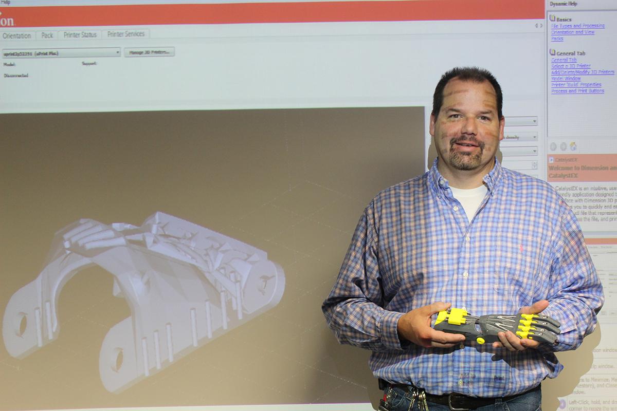 johnny enginner teacher 3d print prosthetic