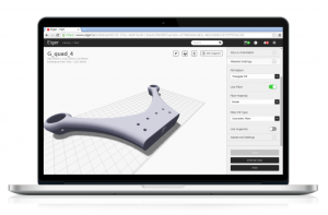 mark one eiger cloud 3D printing software