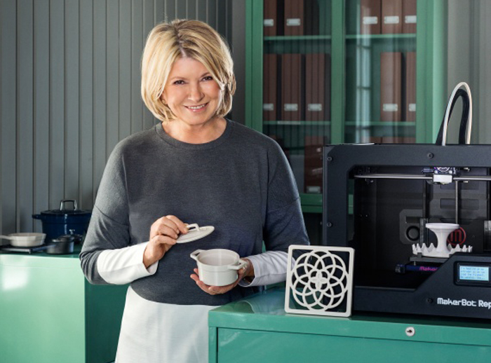 martha stewart at CES 2015 with makerbot 3D printing products