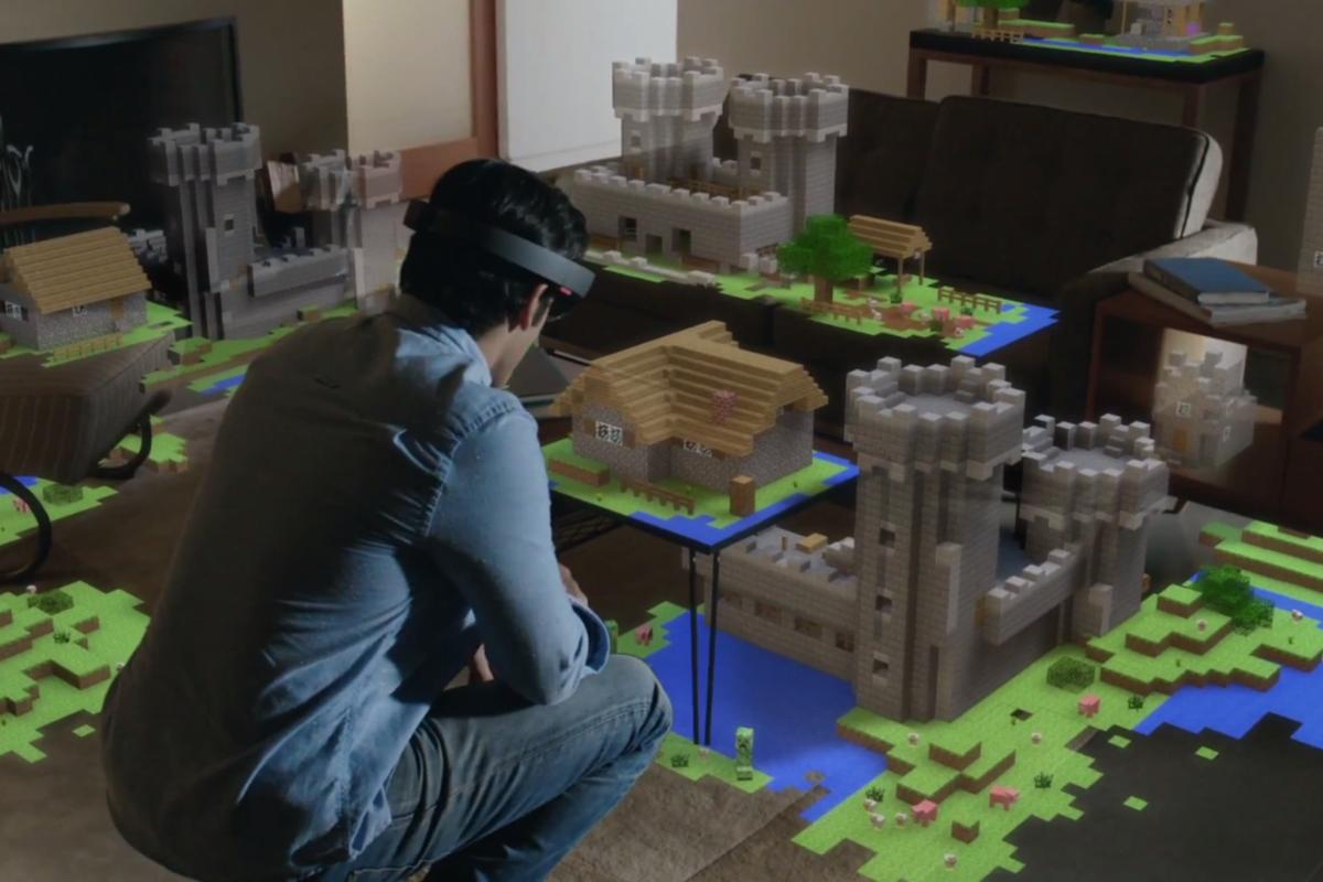 microsoft hololens displays minecraft 3D printing