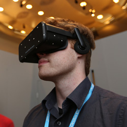 oculus rift crescent bay reality computing prototype at CES 3D printing