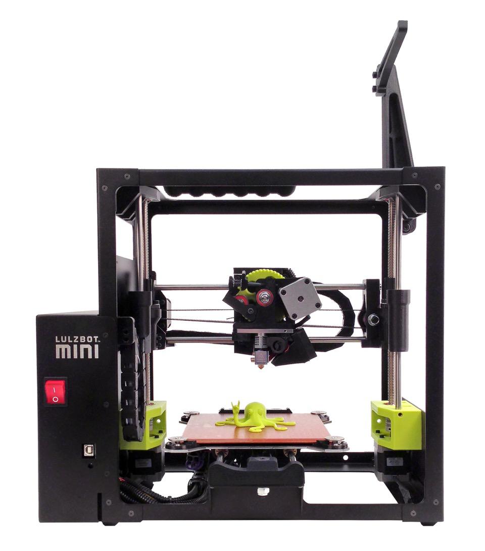 self-leveling lulzbot mini 3D printer at CES