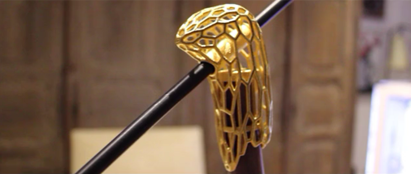 3d printed gold lamp part