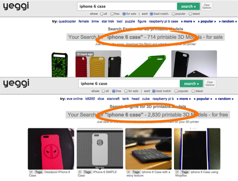yeggi 3D printed iphone 6 cases for authentise study