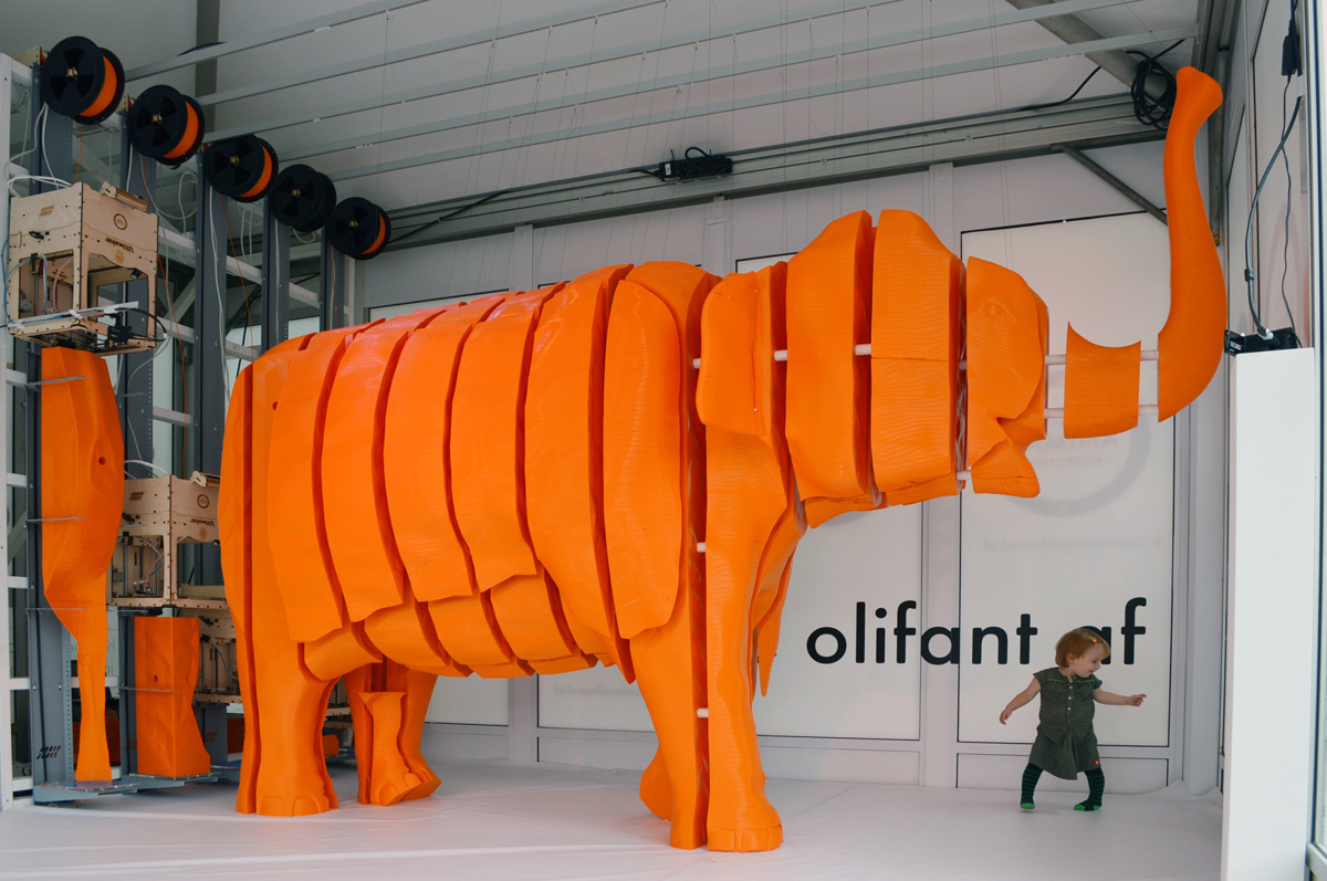 3D printed elephant Joris van Tubergen