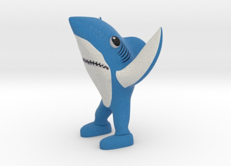 3D printed left shark from fernando sosa