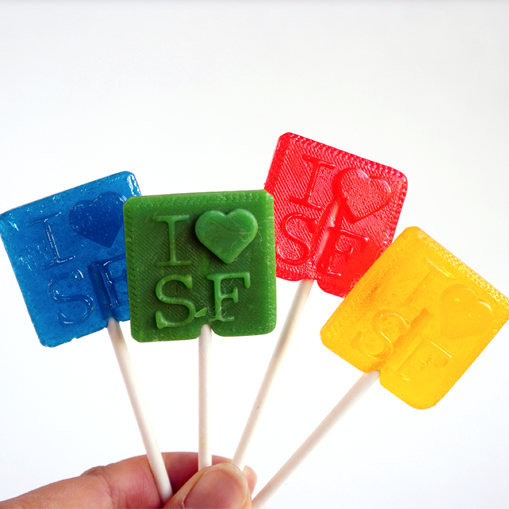 3D printed lollipops from stuffhub