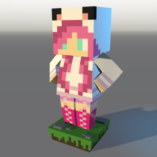 3D printed minecraft character mycraft from behold 3d me