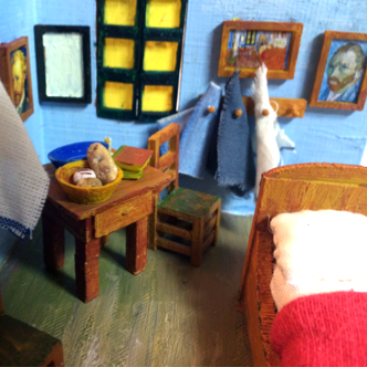 3D printed replica of van gogh Bedroom in Arles