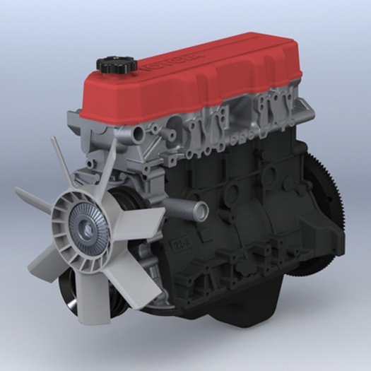 This 3D Printed Toyota Engine Really Revs