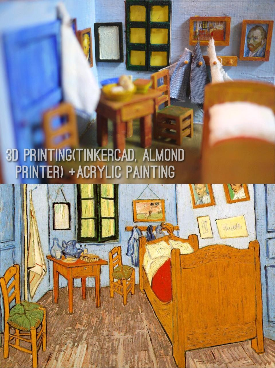 father and son bring van gogh project   3d printing industry. Bedroom In Arles Nice Ideas   Agemslife com