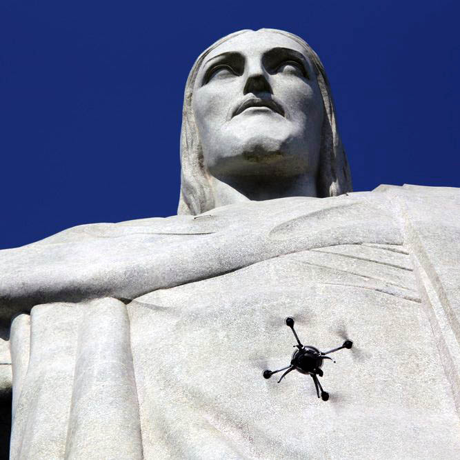 3D scanning christ the redeemer with pix4d and aeryon drones