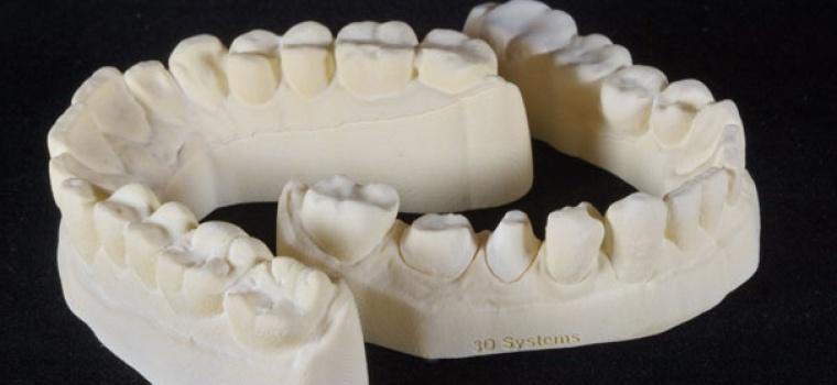 ProJet 3510 DPPro 3D printed denture model