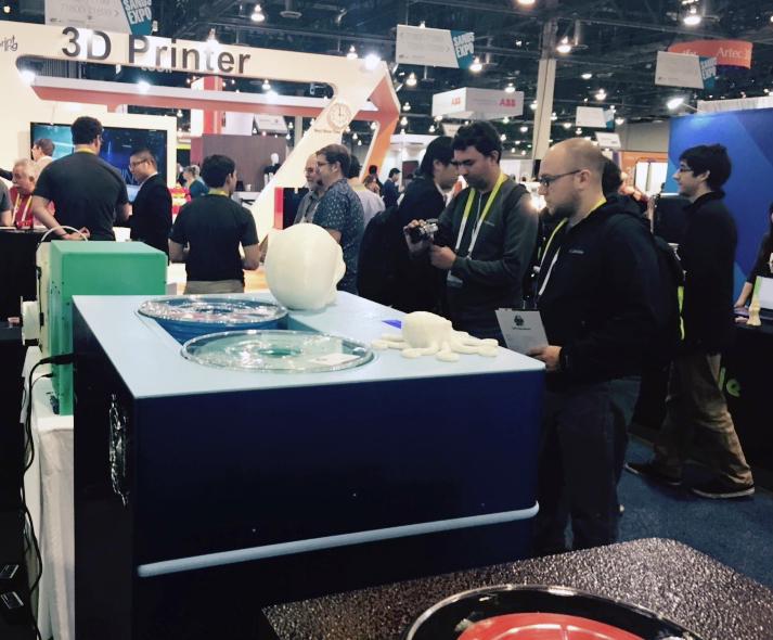 Rokit 3D printer at CES2015(3)Jan06,2015