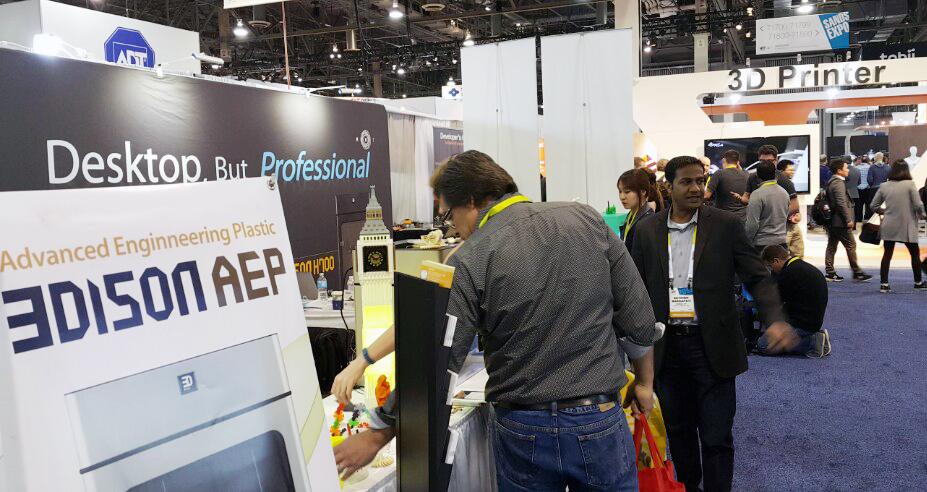 Rokit 3D printing at CES2015 Jan06,2015