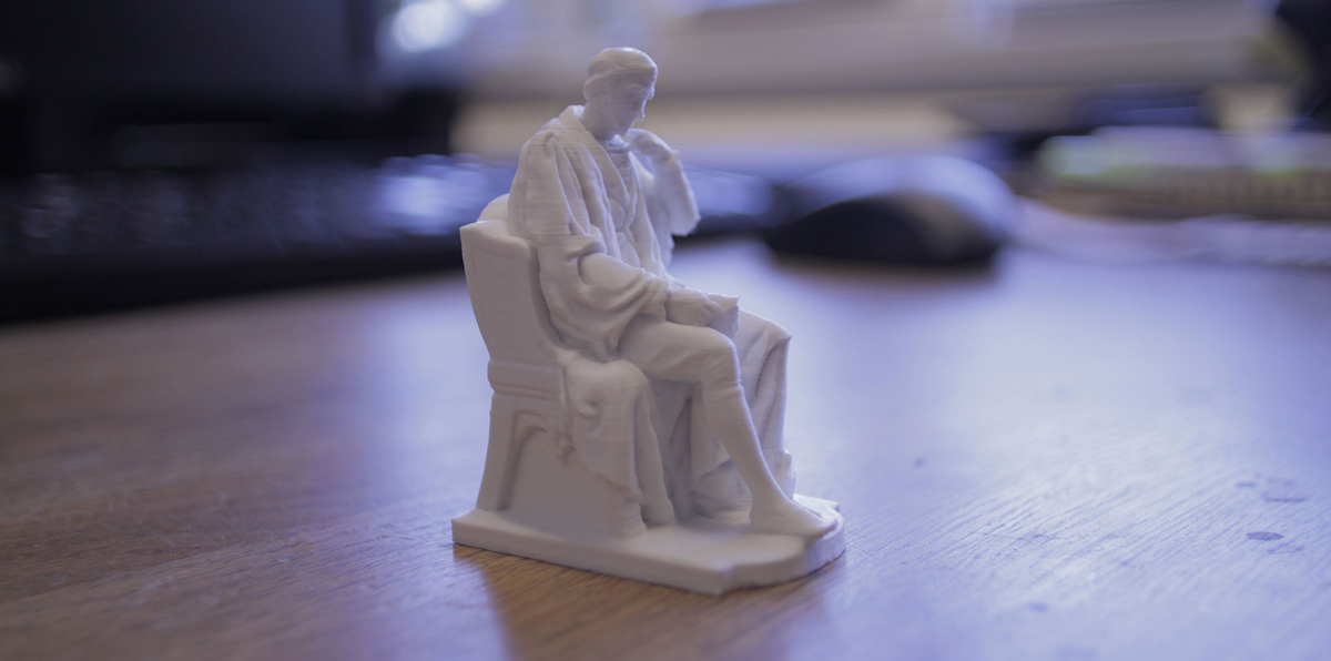 a model from the myminifactory library 3D printed at 50 microns