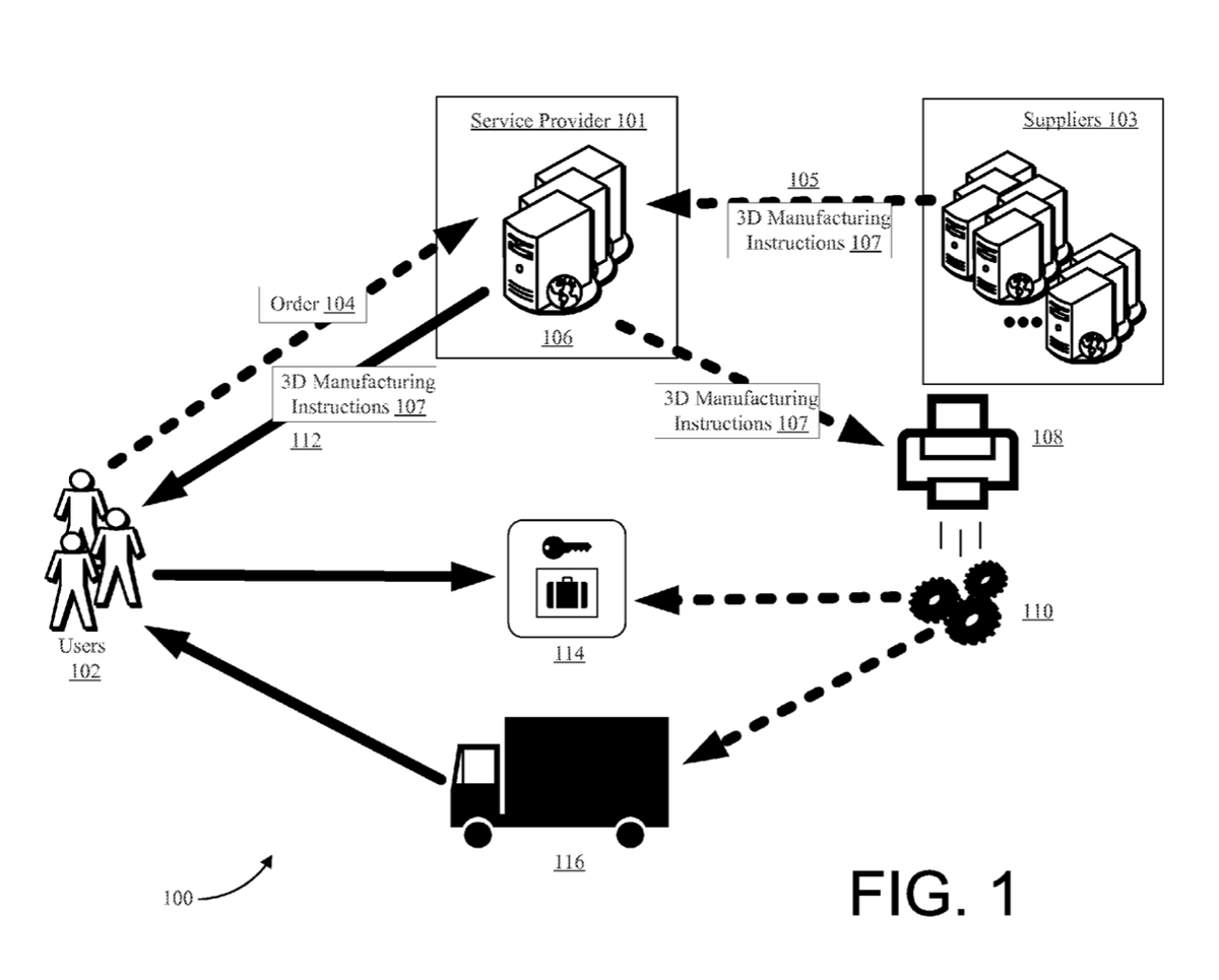 amazon 3D printing truck patent application