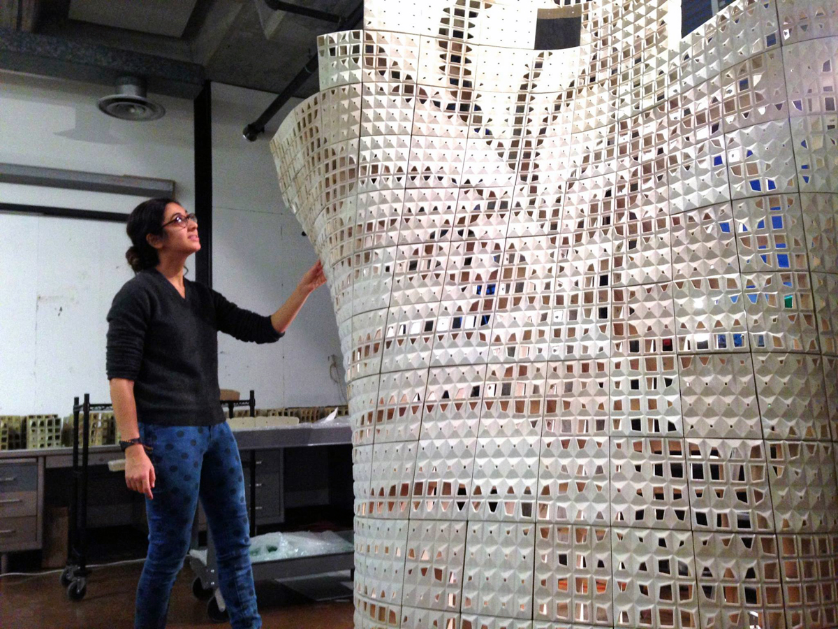 bloom 3D printed structure from emerging objects