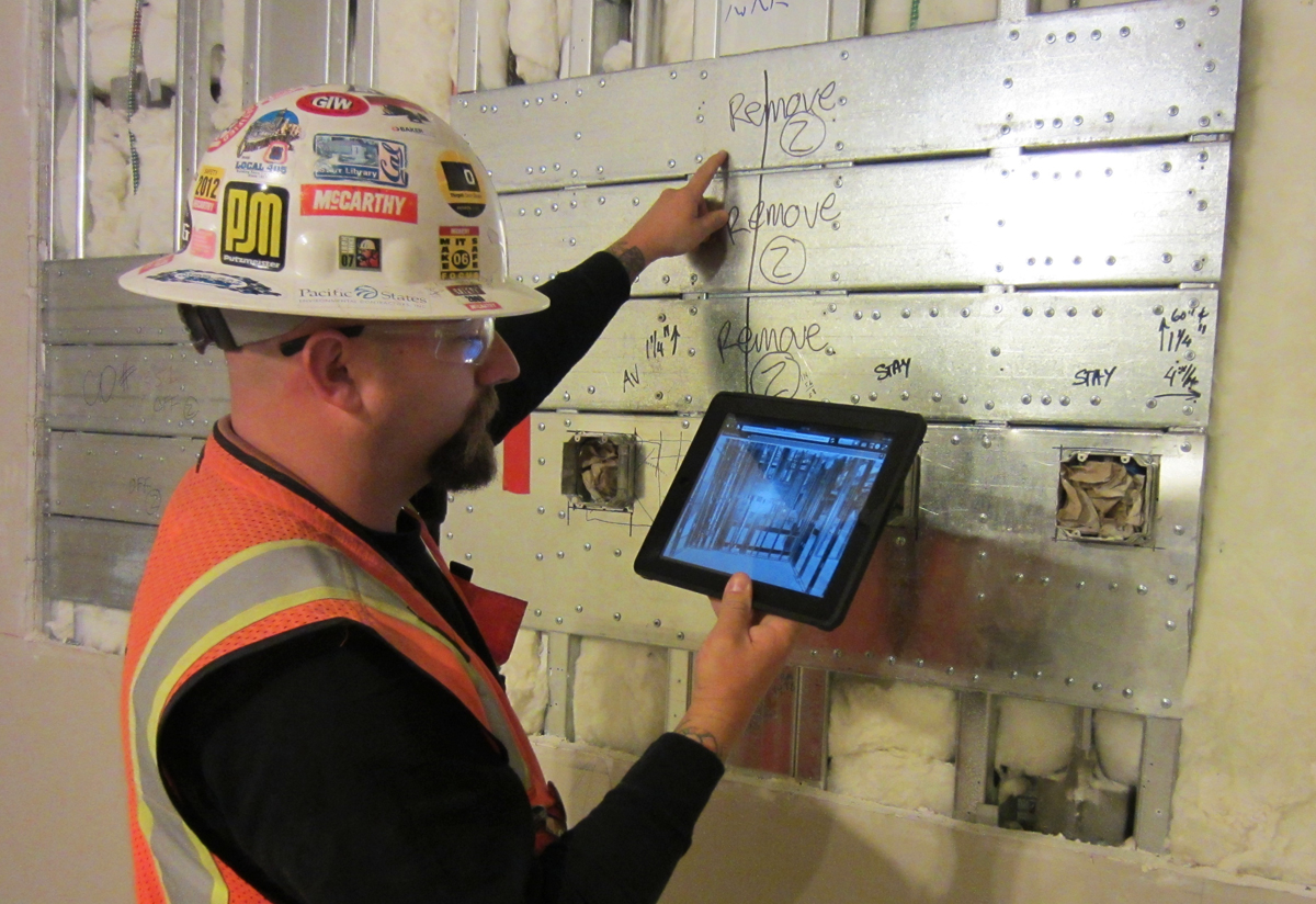 construction uses ipad for 3D scanning 3D printing industry