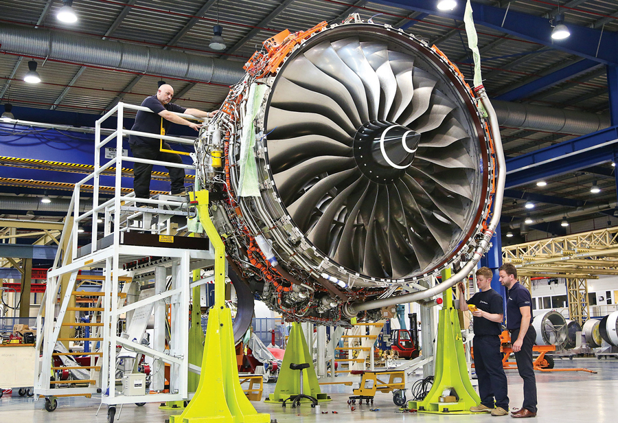 rolls royce trent engine 3D printed parts