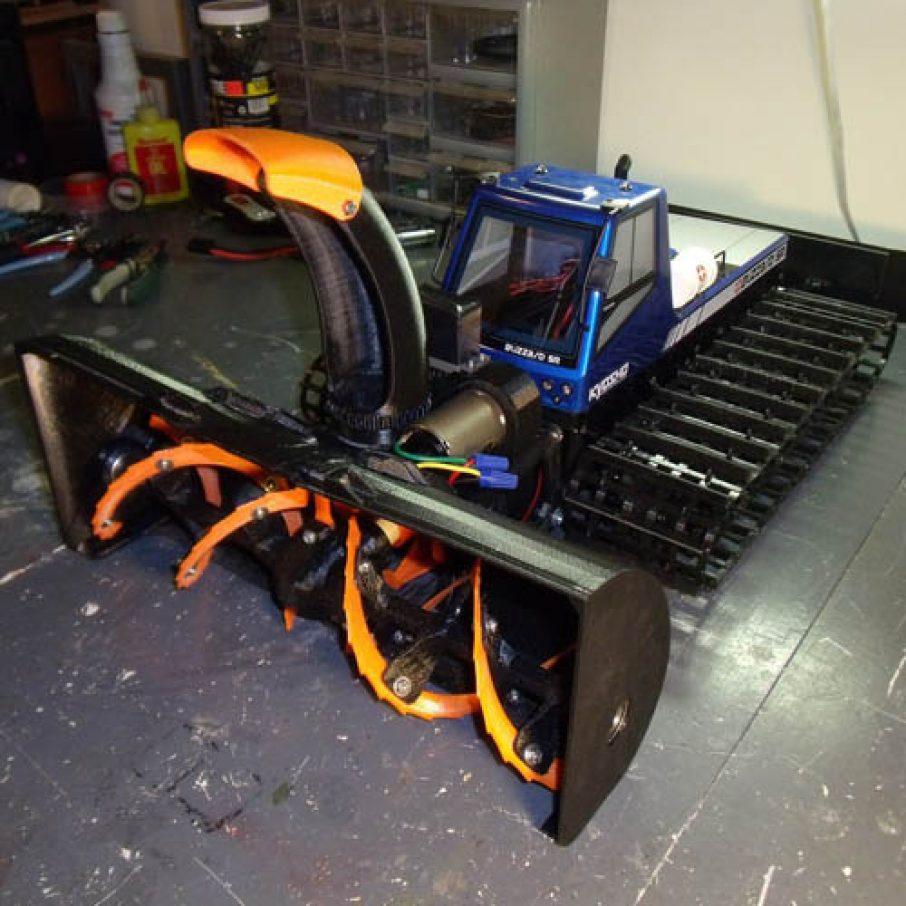 Custom 3D Printed Snowblower