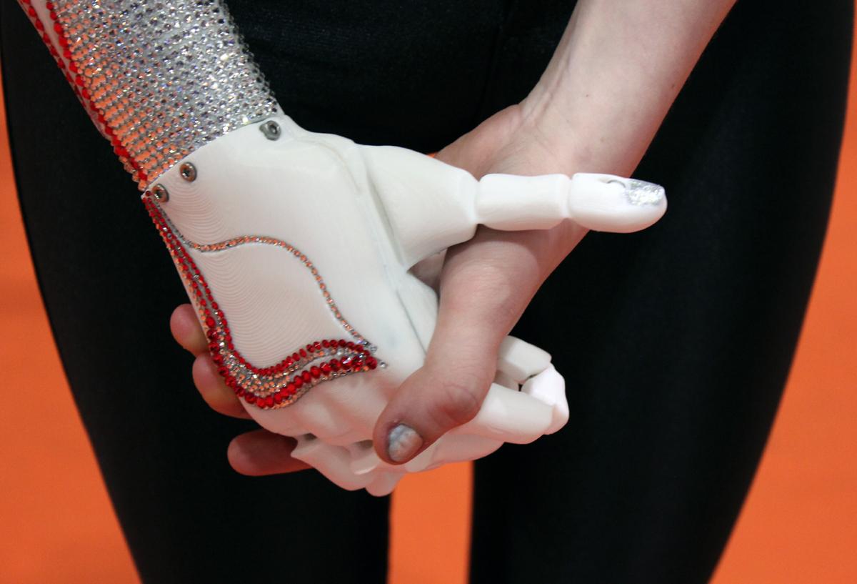 3D printed Swarovski