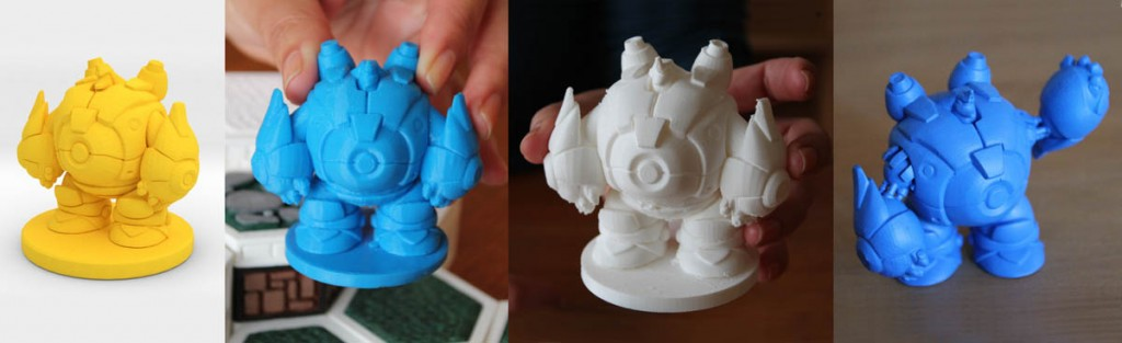 3D Printed Open Board Game Pieces From Ultimaker And Makerbot