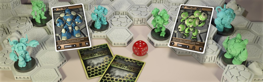 3D printed rust to dust game from open board games