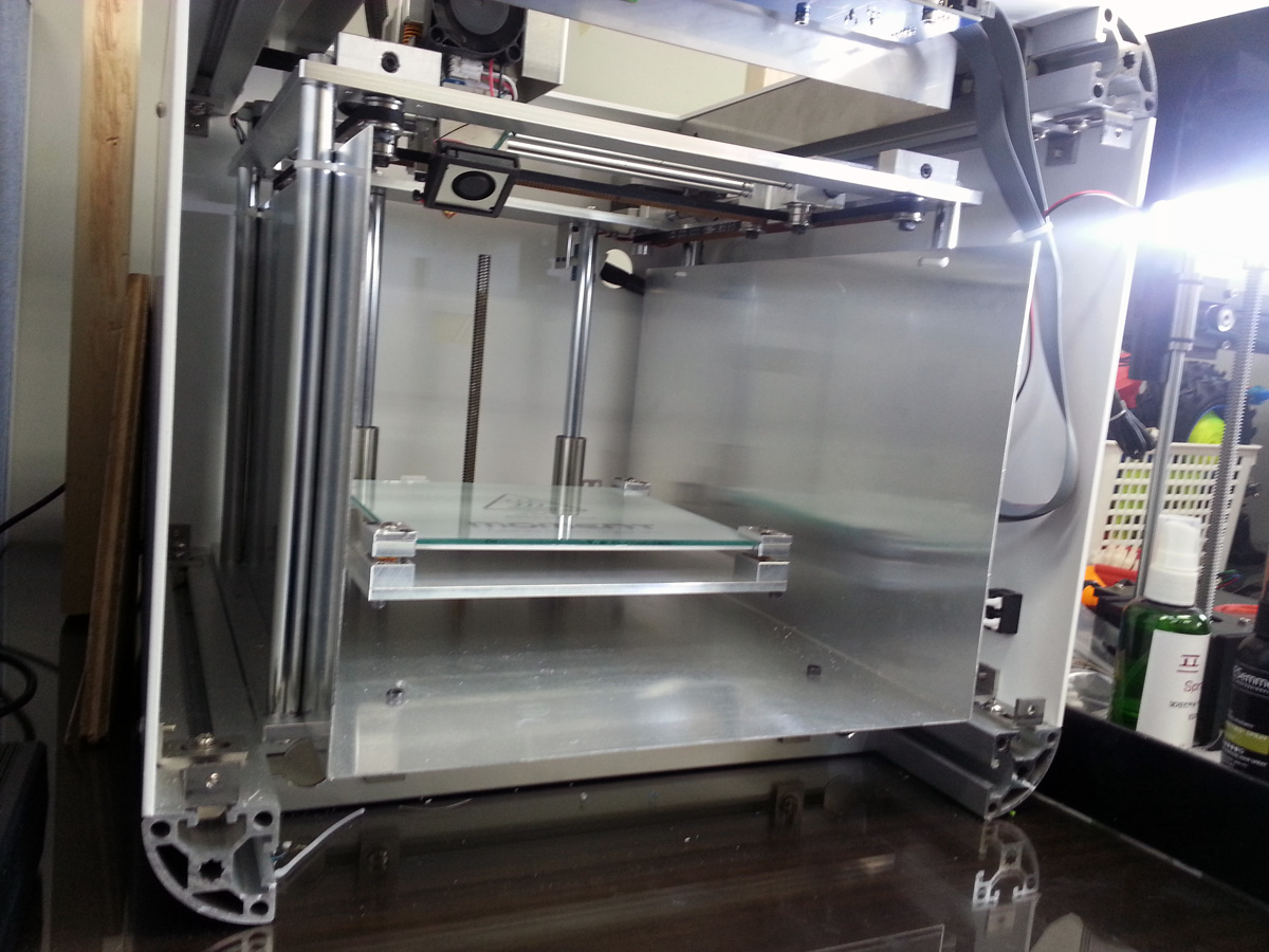 8. Moment 3D printer Faceplate removed
