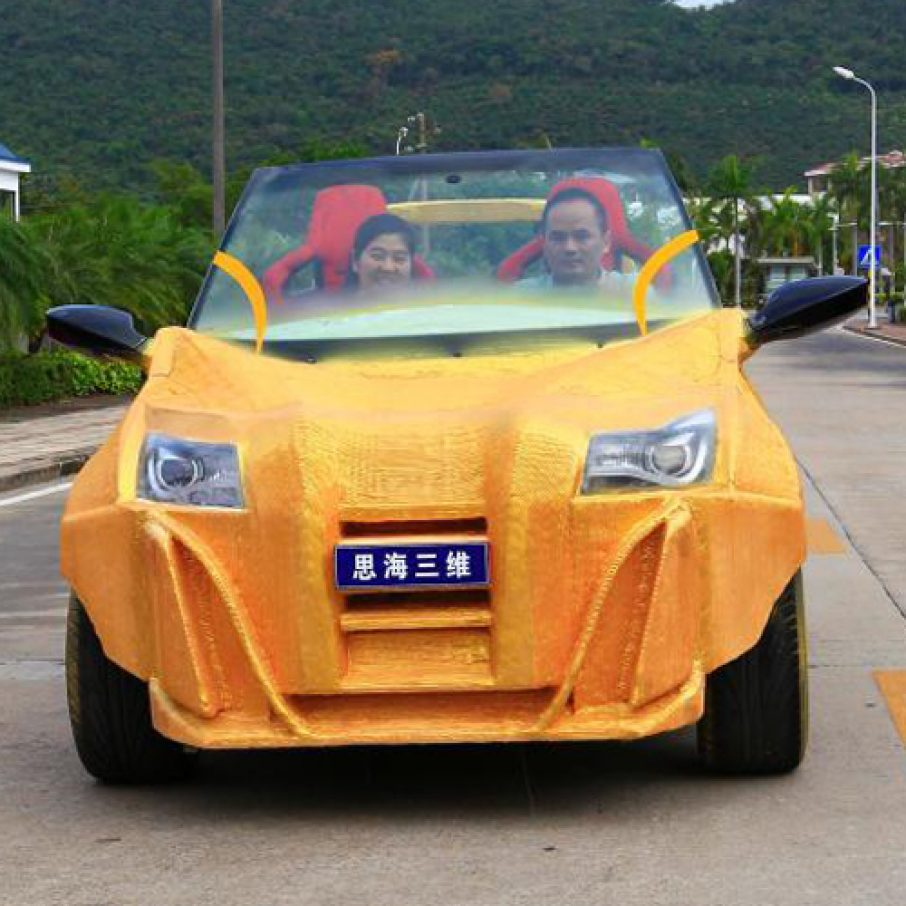China's 1st 3D Printed Car Hits The Road