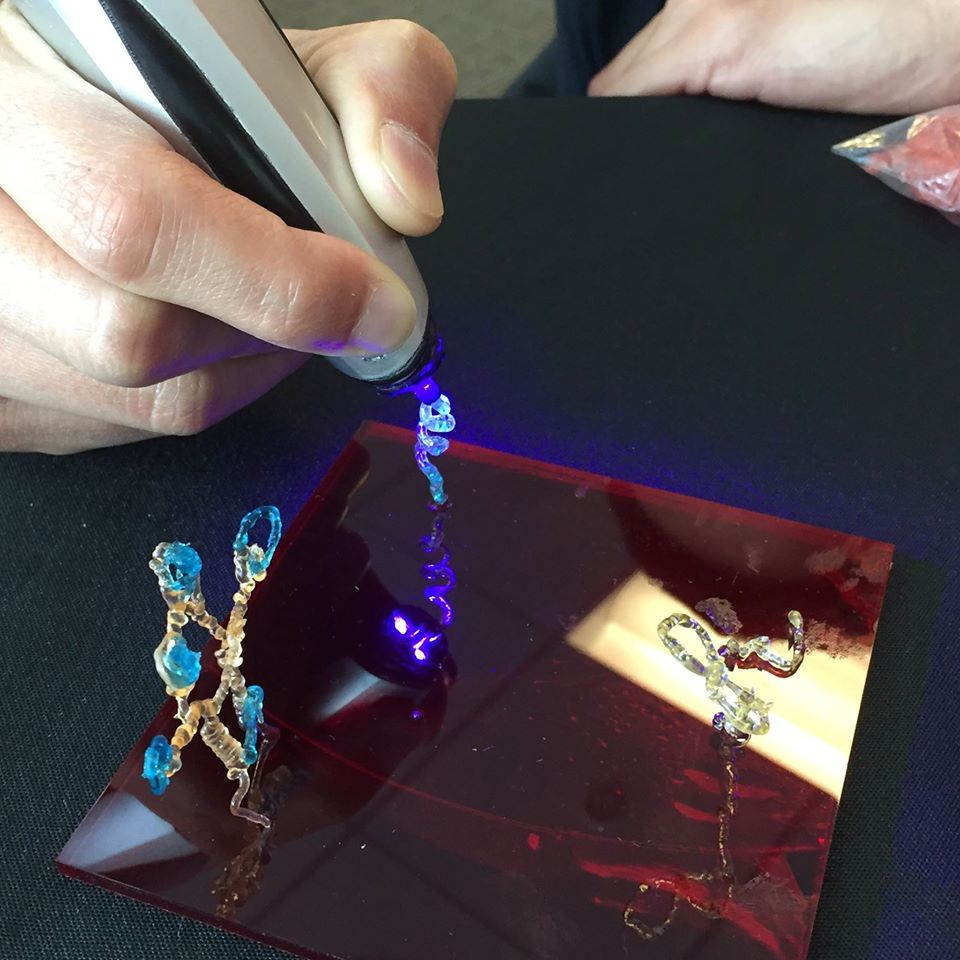 creopop 3D printing pen at sxsw squiggle