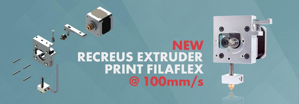 filaflex new 3D printing extruder for rubber filament