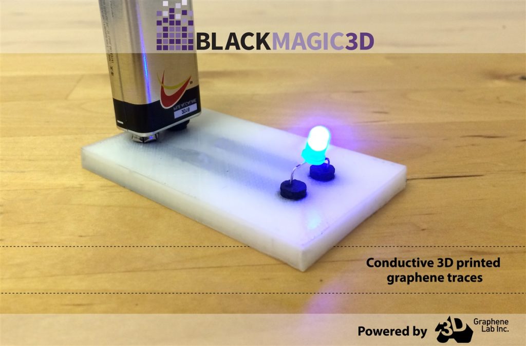 graphene sensors conductive traces made with graphene 3D printing filament