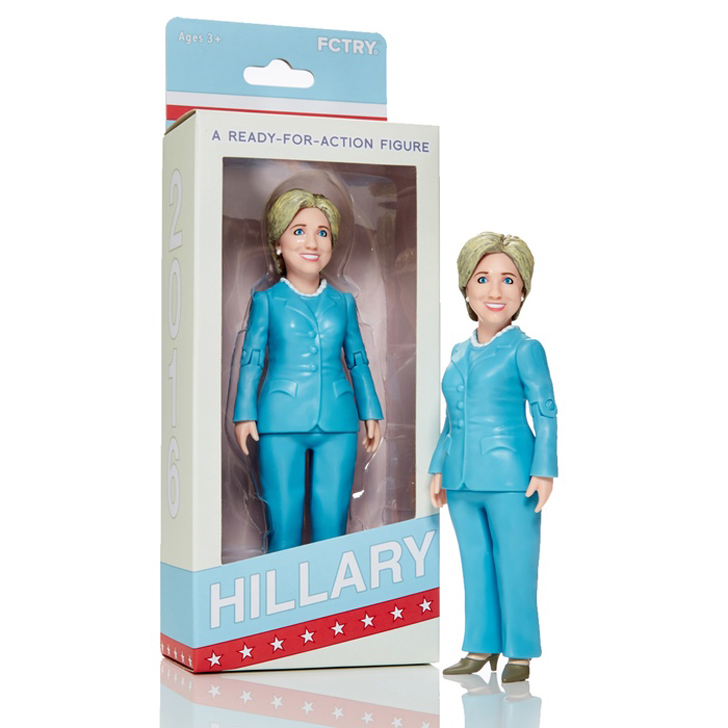 hillary clinton doll made with 3D printing