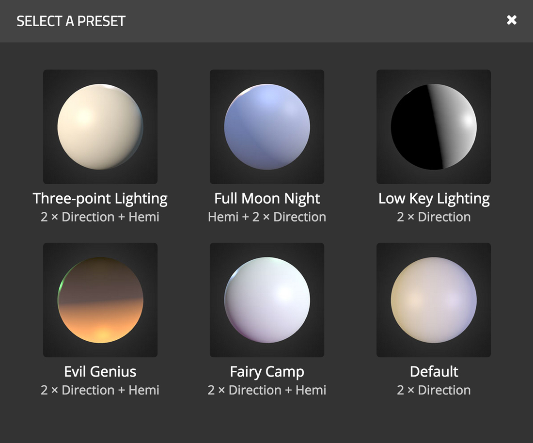 light-presets