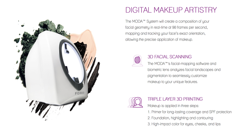 Is The Moda Is A Makeup 3d Printer 3d Printing Industry