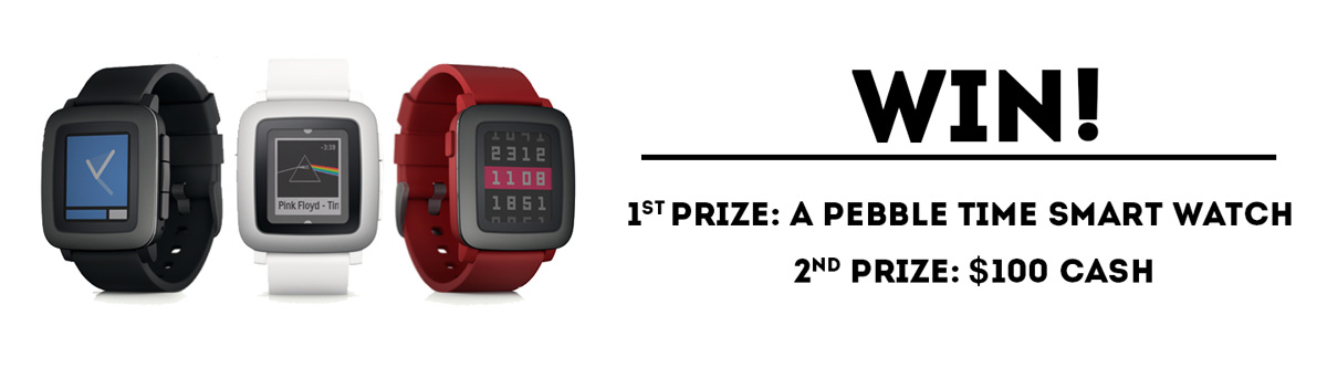 myminifactory pebble team for smartwatch 3D printing contest