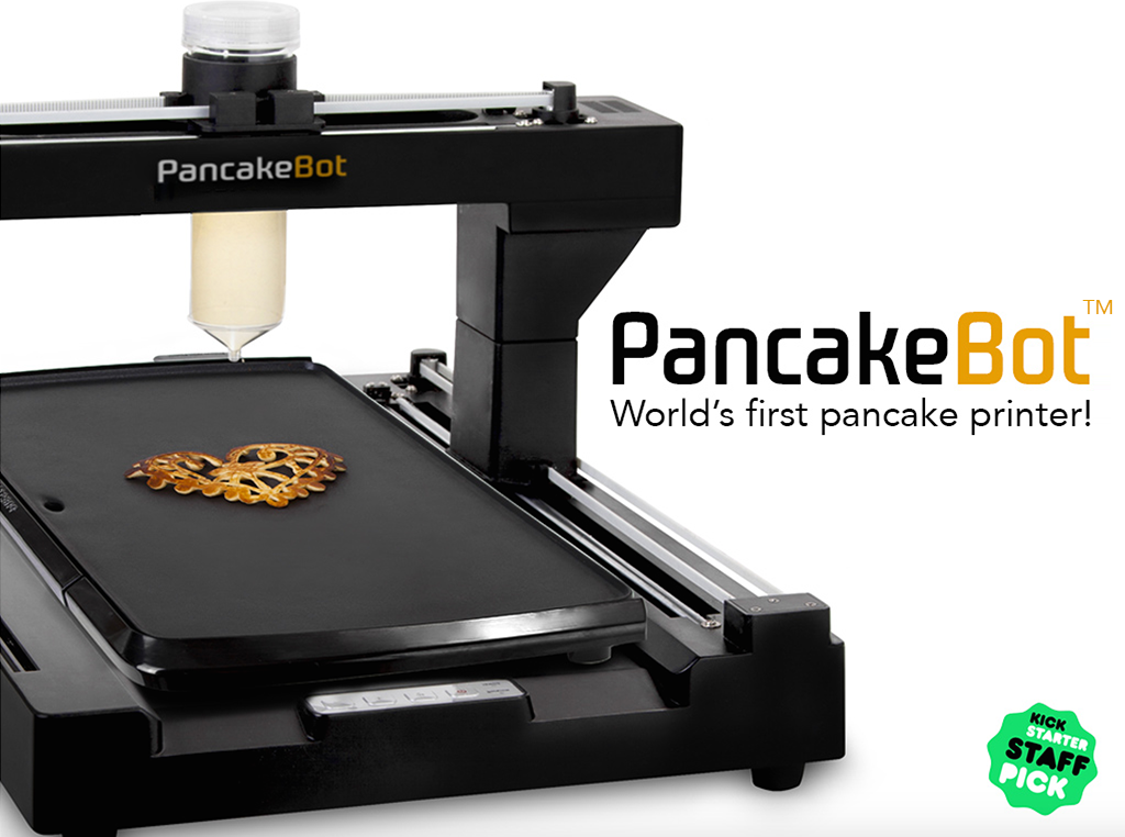 pancakebot printer kickstarter  3d printing industry