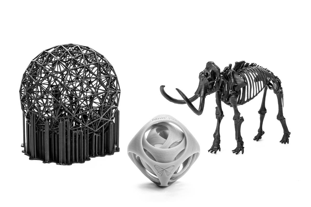 parts printed by form1+ 3D printer from formlabs