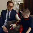 Robert Downey Jr. Presents 3D Printed Bionic Arm to Mini Iron Man