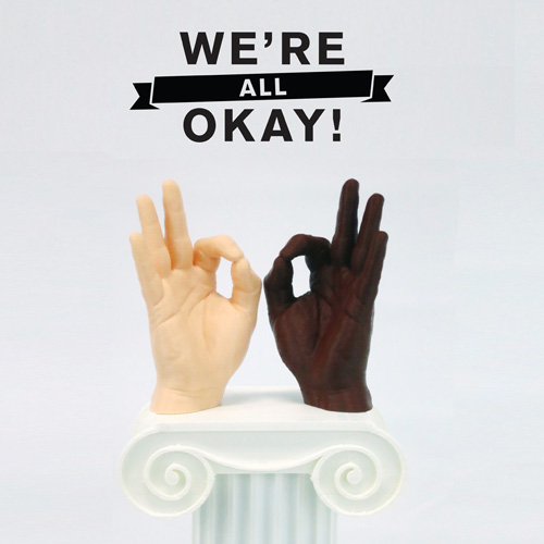 we're all okay 3D printed sculpture feature