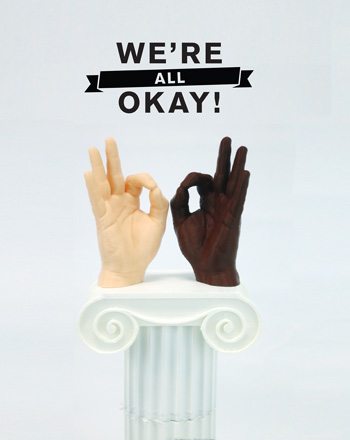 we're all okay 3D printed sculpture small
