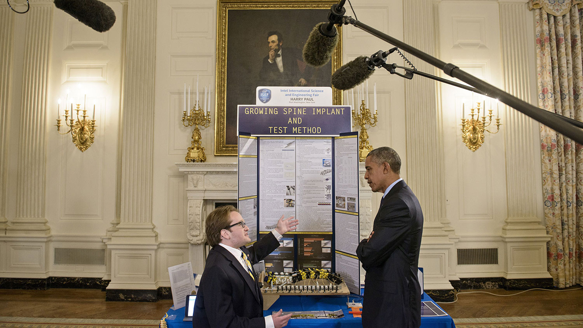 white house 3D printing science fair 2015