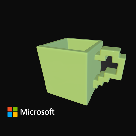 3D printable mug from microsoft and sketchfab