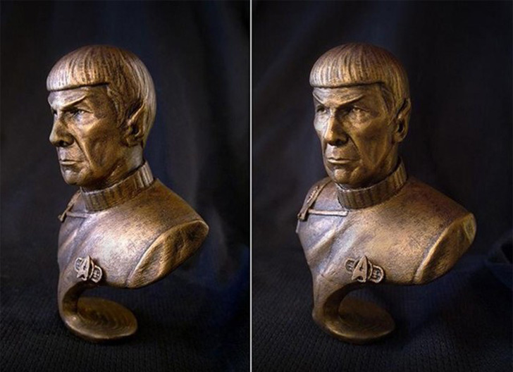 3D printed spock bust