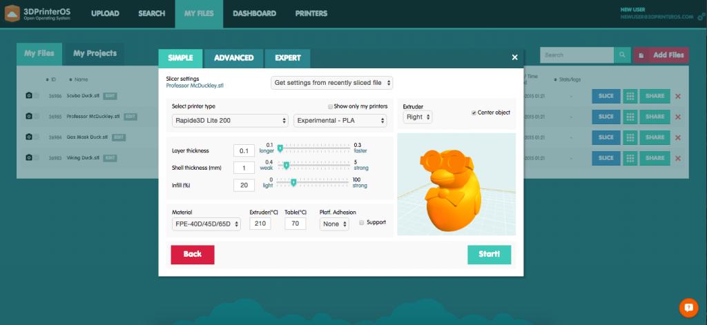 3DPrinterOS - Rapide 3D - Cloud Slicer