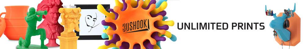 3Dshook subscription 3D printing